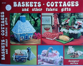 Gift Craft book, Baskets, Cottages and other fabric gifts, 1981 gift sacque, gourmet Christmas gifts and recipes