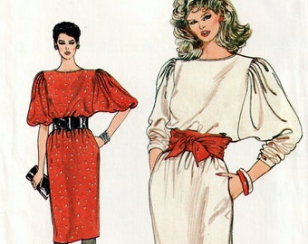 1970s Shift  Vogue Dress Pattern, Uncut Dress, Vogue Misses  pattern, Uncut Vogue 8734 in size 14, 16 & 18