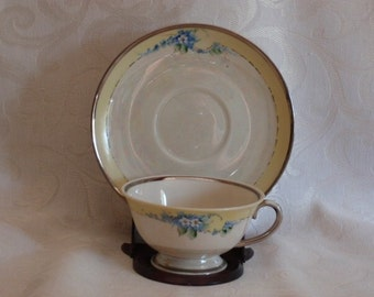Vintage cup and saucer, 1950s RANSGIL China  made in California USA
