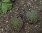 teardrop earrings-spiro-green