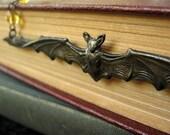 Halloween bat gothic necklace - October Flight - Bountiful Winepress