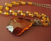 Witching Hour - Orange crystal necklace - Honeyed