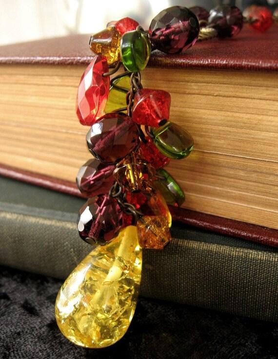 Bountiful Harvest - Autumn glass mix necklace - Elysia