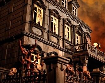Playmobil Haunted Halloween Victorian Mansion 5300 custom dollhouse 120 items