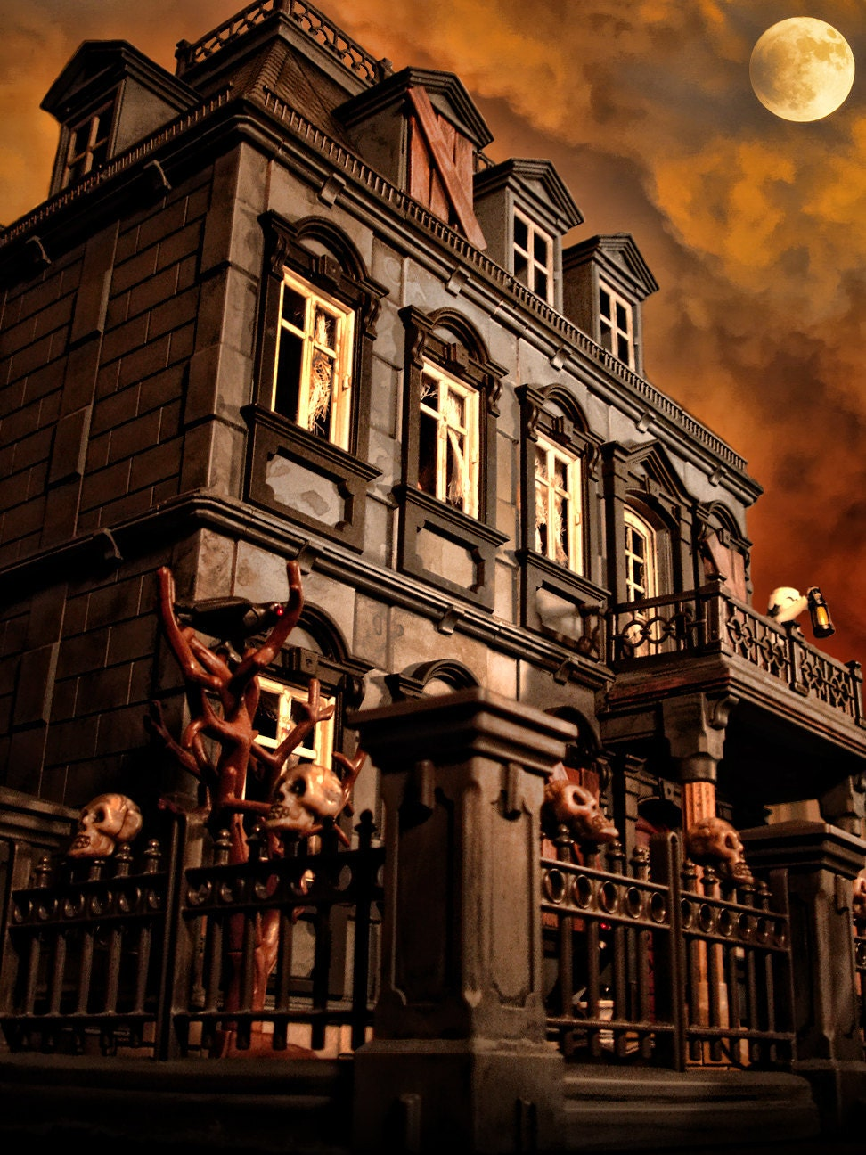 Playmobil Haunted Halloween Victorian Mansion 5300 Custom