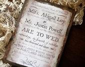 By George - Vintage / Steampunk Wedding Invitation Sample
