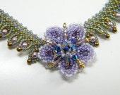 Lavender and sage flower  necklace