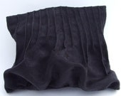 Black Pintucked Clutch Style Pouch with velcro closure