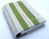 Visual Journal Slip Cover - Ribbon and Canvas Pleat