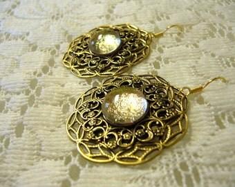 Sun Burst Victorian Earrings