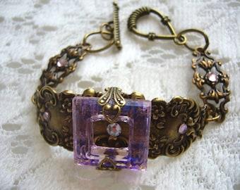 Spring Light Pink Victorian Bracelet