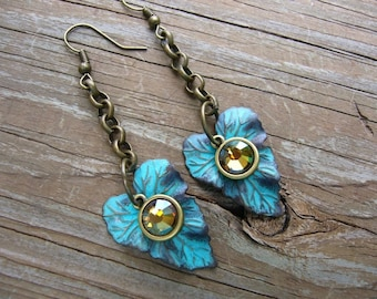 Nature Leaves Brass Earrings Free Shipping in USA