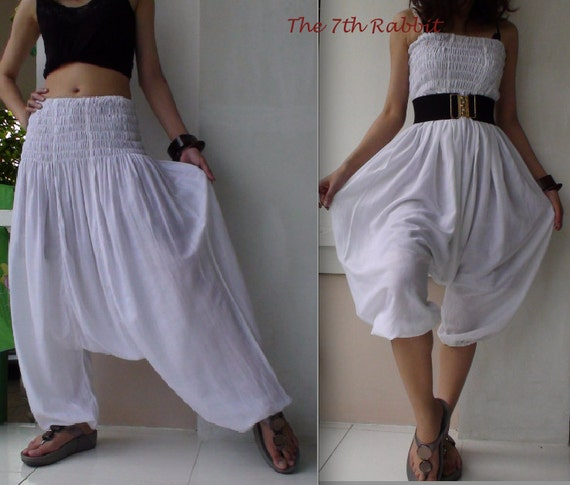 Harem Pant in Off-White