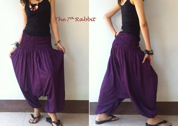 Summer Sale 15% off...Harem Pant in Lilac (Fits S-XL)