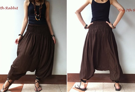 Harem Pant in Chocolate Brown(2)