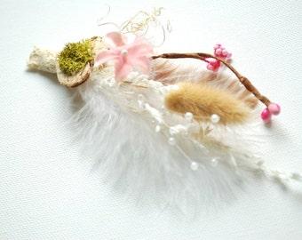 nature boutonniere, brooch, outdoor woodland weddings, weddings accessories, nature pin, groom, groomsmen pin, spring