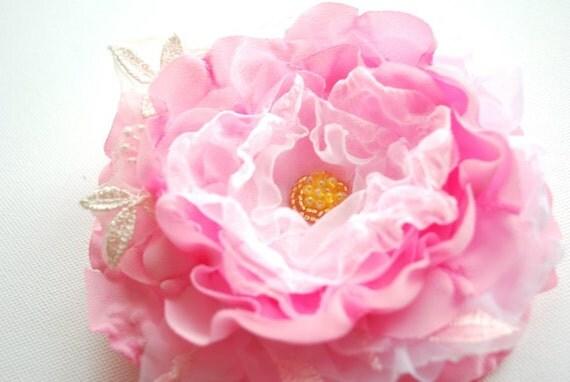 Romantic rose-Tea rose-Apple,cherry blossom-Weddings Accessories Hair Brooch-Bride,bridesmaids.