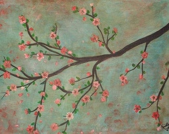 Cherry Blossoms Commission by Kristen Dougherty