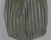 CLEARANCE - Flirt Drawstring Wristlet in Pale Aqua Silk with Iridescent Blue Silk Lining