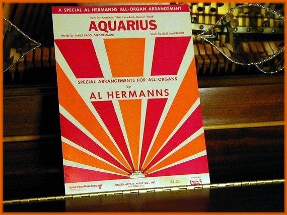 1969 Aquarius all-Organ Arrangement by Al Hermanns from the Rock Musical HAIR
