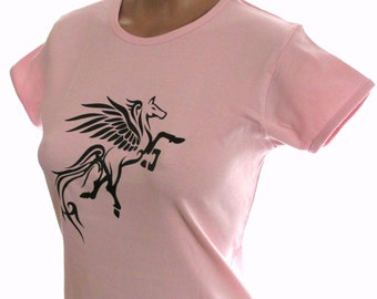 Women's pink babydoll t-shirt pegasus