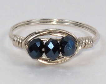 Sterling Silver and Celestial Crystal Ring