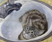 Cat In Sink Card-Proceeds to Animal Charity