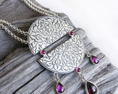 SHEHEREZADE -statement sterling silver necklace OOAK