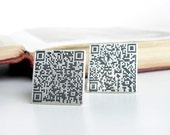 QR code sterling silver cufflinks