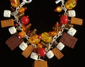 S'mores  CAMPFIRE Charm BRACELET  Marshmallows Chocolate