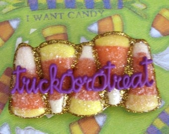 Candy Corn HALLOWEEN  Trick or Treat  PIN Brooch