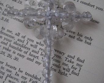 Lovely  Beaded  Cross Ornament