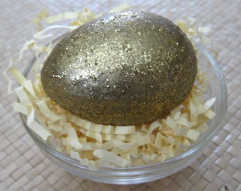Lucky Golden Glittery Egg Easter Egg