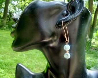 PERFECT STRENGTH aqua glass earrings