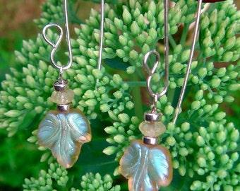 YELLOW FLOWERS sterling silver earrings