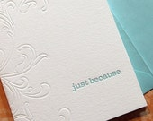 GREETING CARD Letterpress - Blind Scroll (BSO1)