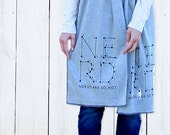 Nerd Cotton Jersey Scarf - Connect the Dots, Typography, Alphabet Game, Puzzle -Grey Screenprint (SC13)