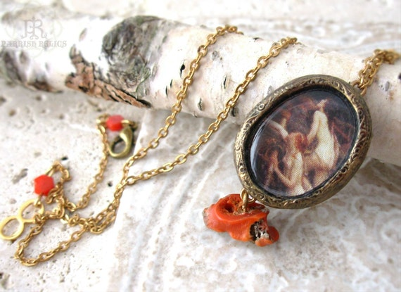 The Sirens - Coral Pictorial Pendant