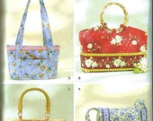 QUILTED Handbags Purse & Tote Bag Butterick 4247 Sewing Pattern UNCUT OOP- 4 Bags in 4 Sizes