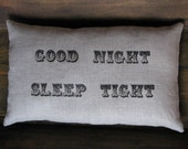 a secret message pillow... good night sleep tight/don't let the bed bugs bite