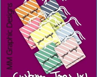 200 Custom Tags - 1x1inch