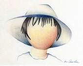 Boy In A Blue Hat - Original Art