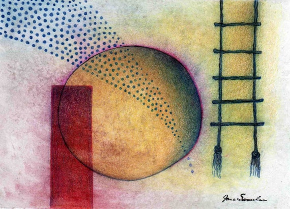 Rope Ladder - Abstract Drawing
