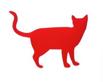 Katze stehend Brosche