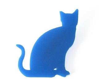 Katze sitzend Brosche