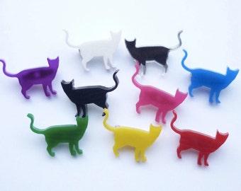 Mini Katze stehend Brosche
