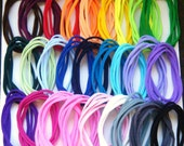 Lot of 25 Stretch Nylon Chokers for Bottle cap Necklaces - one size fits most - choose from 27 colors WOW