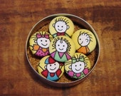 Happy Little Children Pushpins