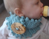 TWO PATTERNS crochet baby or toddler neck warmer- any color you want