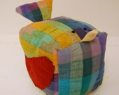SALE 40 PERCENT OFF--Pincushion-Over the Rainbow Bird with her Apple Red Wings